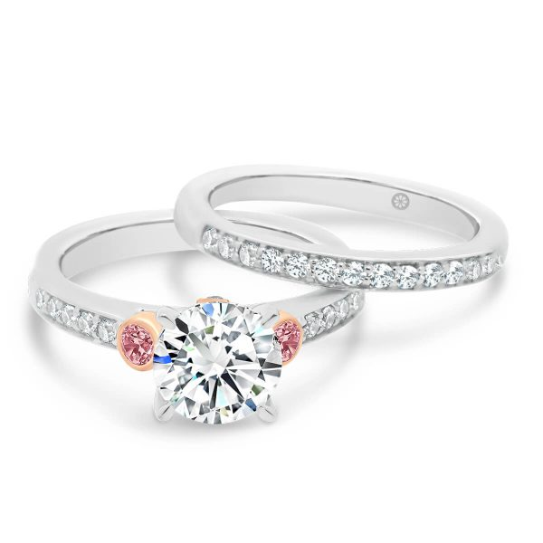 Milan A pave set lab-grown white diamond wedding ring