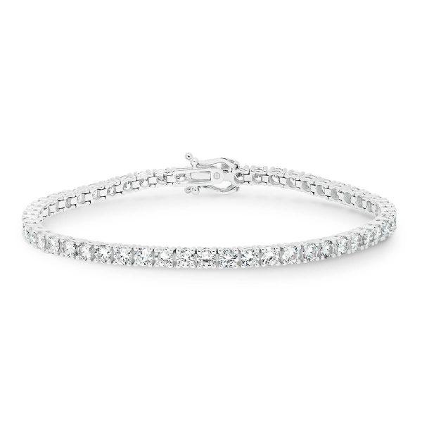 Mississippi 4-prong lab-grown diamond tennis bracelet 18K Gold