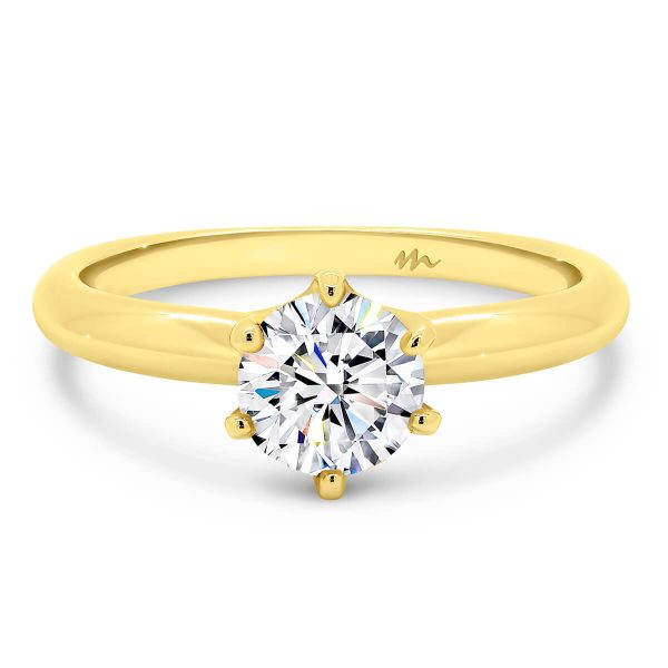 Alessia 1.00 carat solitaire Moissanite engagement ring