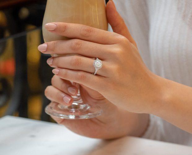 Debt free engagement ring alternative