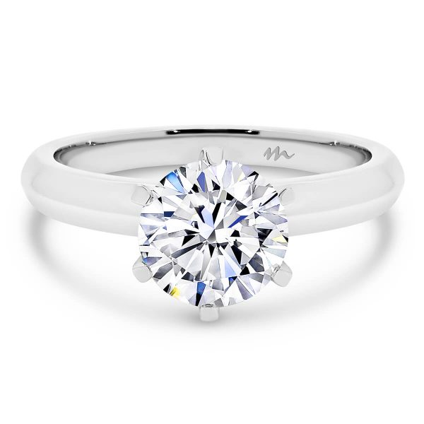 Audrey Round Moissanite 6 prong engagement ring