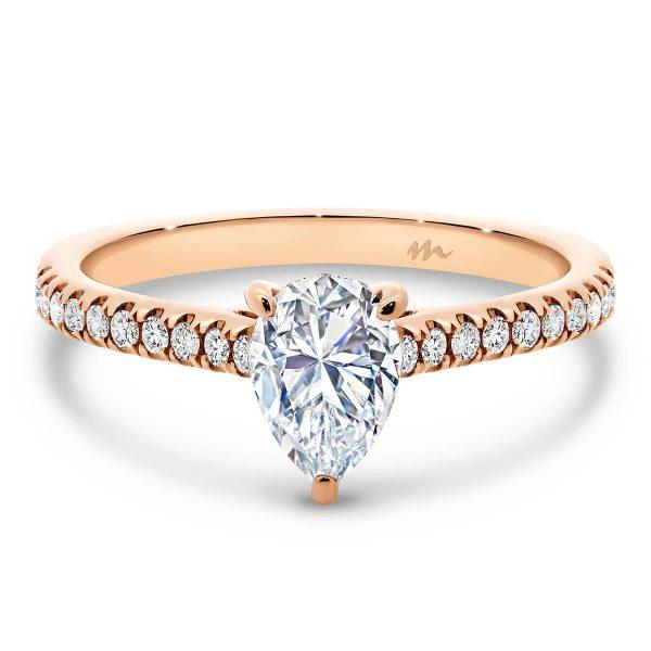 Erin Pear Moissanite engagement ring