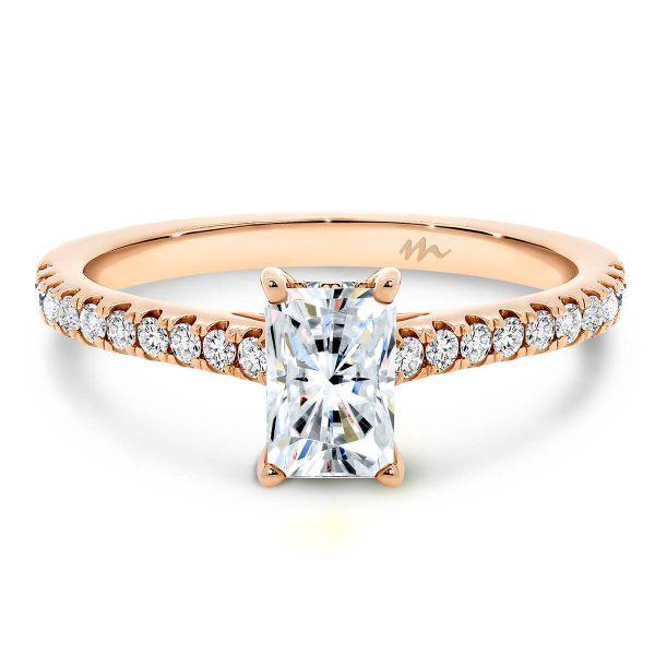 Erin Radiant 4-prong Moissanite ring