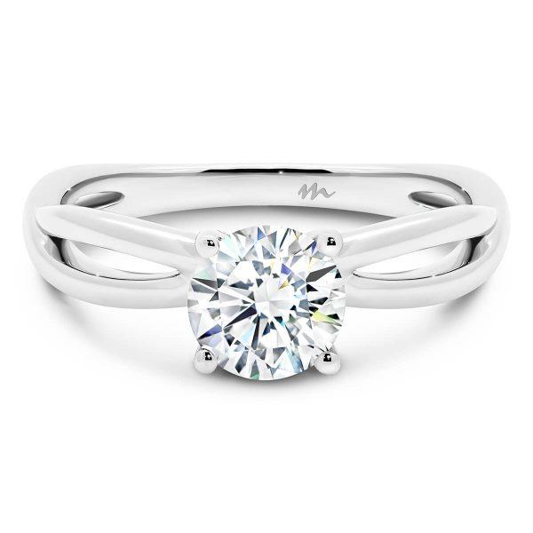 Felicity 5.0' Moissanite engagement ring