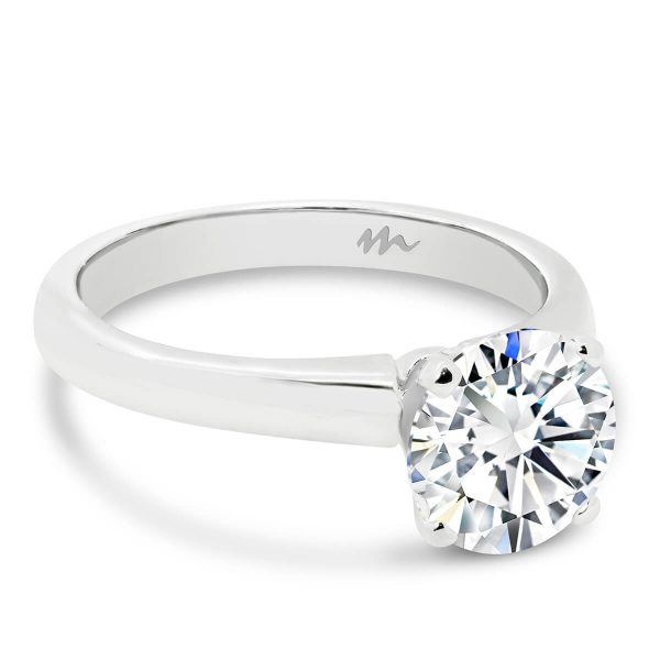 Fiona Round Moissanite engagement ring with classic 4 prong setting
