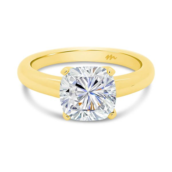 Fiona Cushion Moissanite engagement ring with 4 prong setting