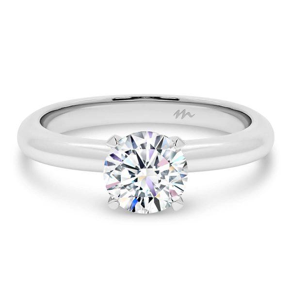 Freda 5.0' Moissanite engagement ring