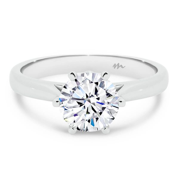 Gum Blossom Moissanite engagement ring