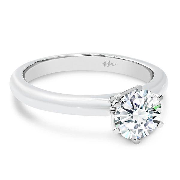 Hannah' Moissanite engagement ring