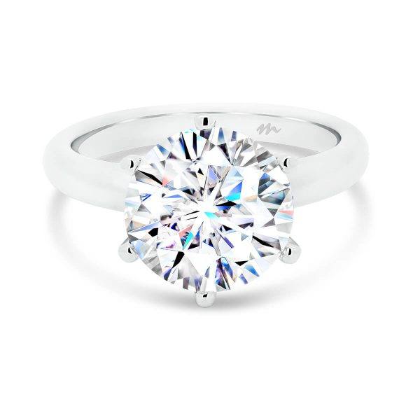 Hazel engagement ring classic round 6 prong setting