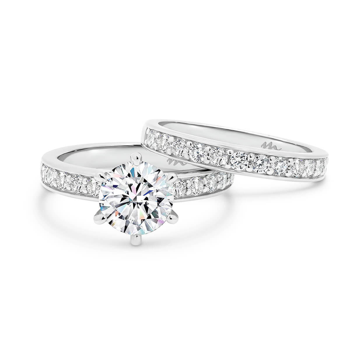 Isabelle A 2.0 Pave set Moissanite wedding ring