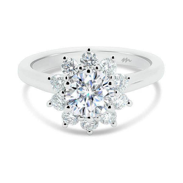 Jasmine Vintage Floral Moissanite Ring