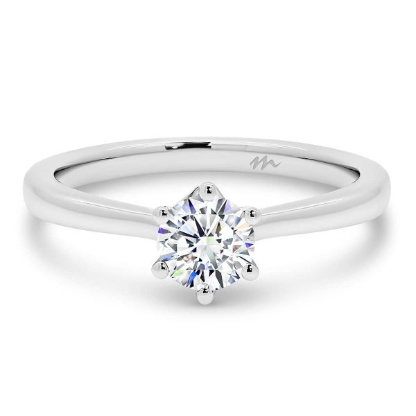 Juliette Moissanite engagement ring 6-prong solitaire ring