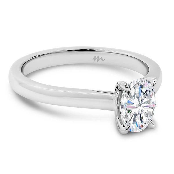 Leisel Oval' Moissanite engagement ring