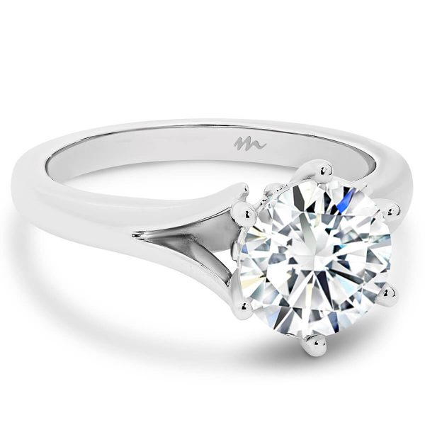Lily 7.5 Moissanite engagement ring