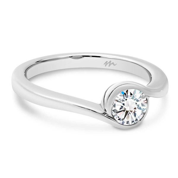 Liza Moissanite engagement ring