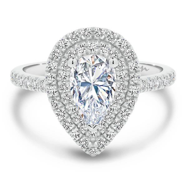 Louisa Pear Moissanite engagement ring