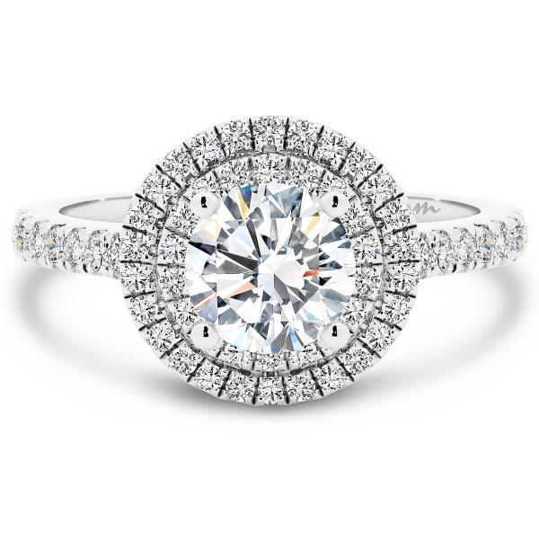 Louisa Round Moissanite engagement ring