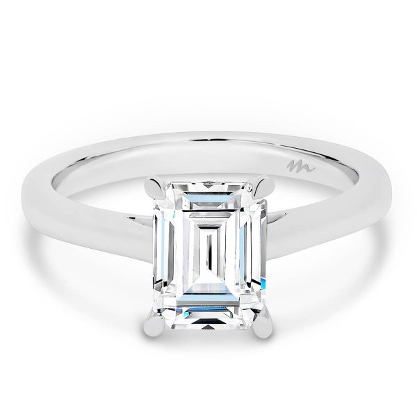 Moissanite Emerald cut engagement ring designs
