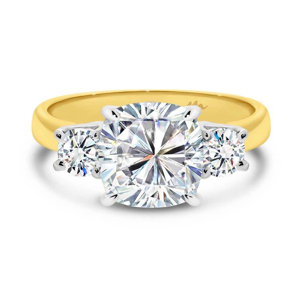 Meghan Markle Cushion cut trilogy engagement ring