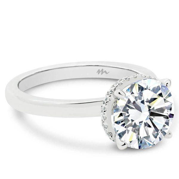 Nadia Round 9.0 Moissanite engagement ring