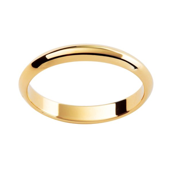 P211 knife edge wedding ring
