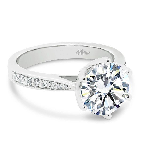 Passion 8.5 Moissanite engagement ring