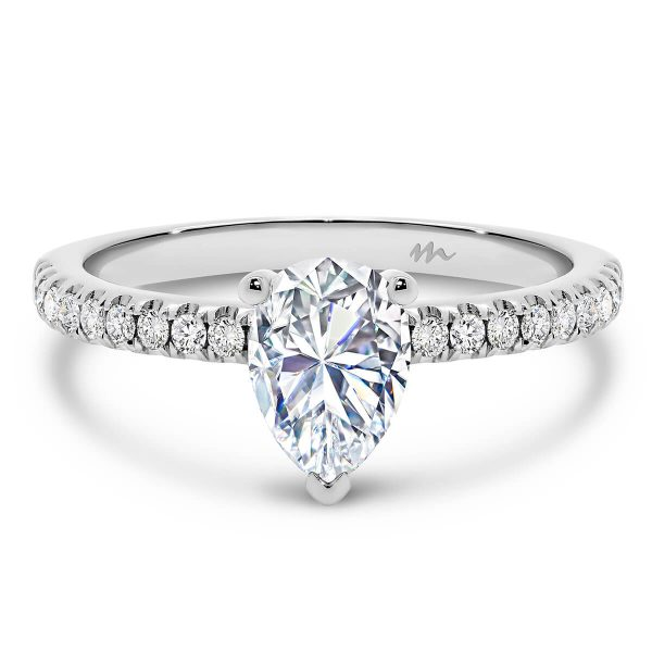 Pia Pear Moissanite engagement ring