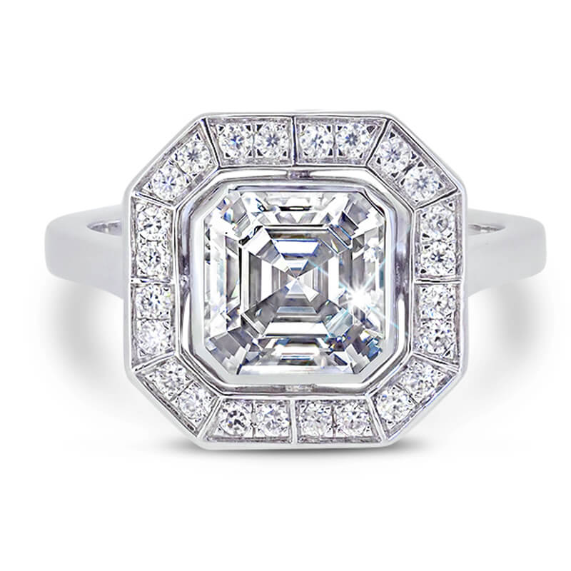 Art deco diamond ring made p[opular by Pippa Middleton's engagement ring.