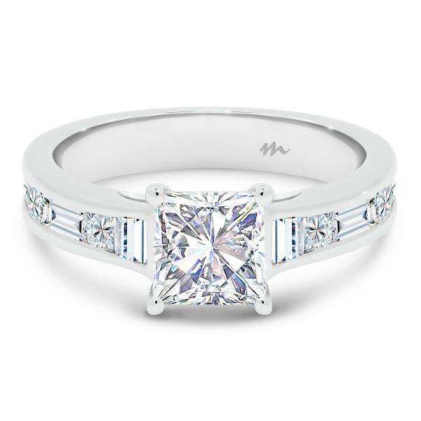 Sia 6.0 Moissanite engagement ring