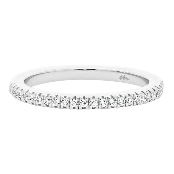 Angela 1.1 prong set Moissanite wedding ring