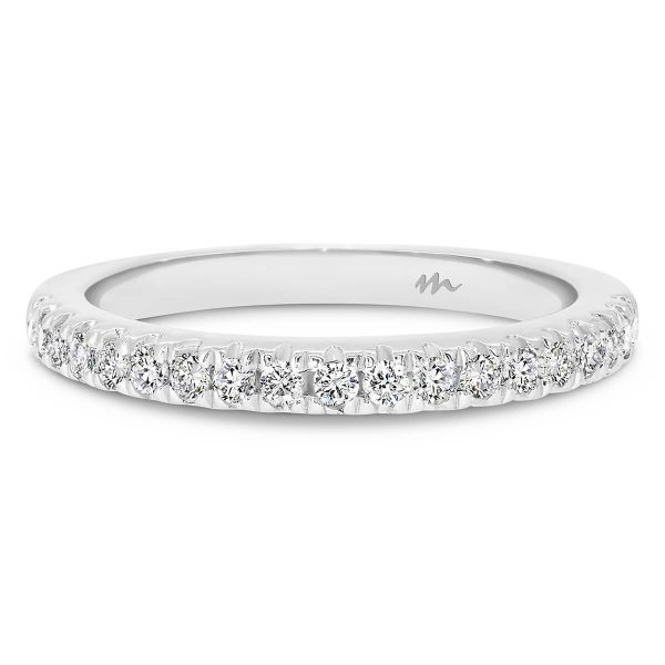 Angela 1.5 claw set Moissanite half band