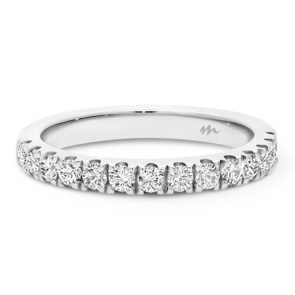 Angela 2.0 prong set Moissanite wedding ring