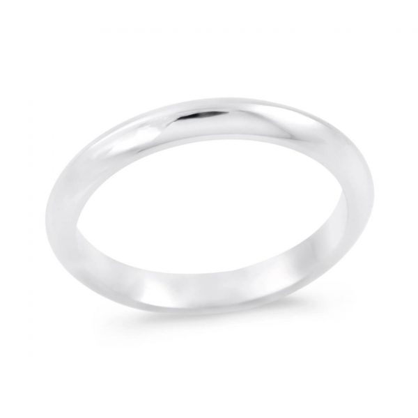 Audrey A plain knife-edge wedding band