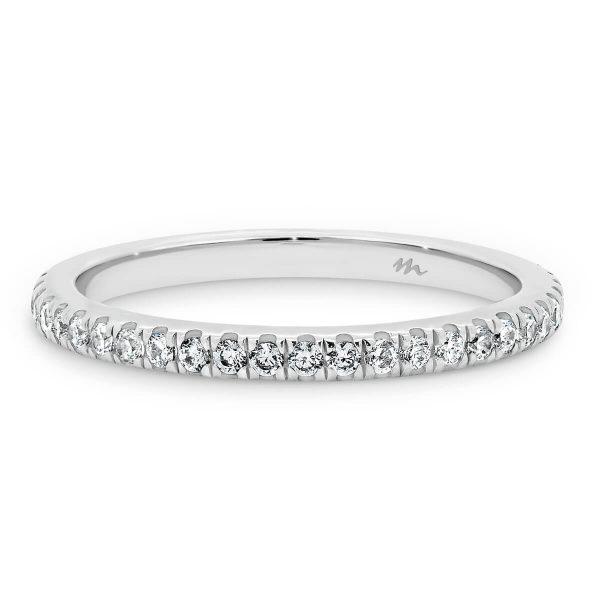 Ava A Prong set 3/4 band wedding ring