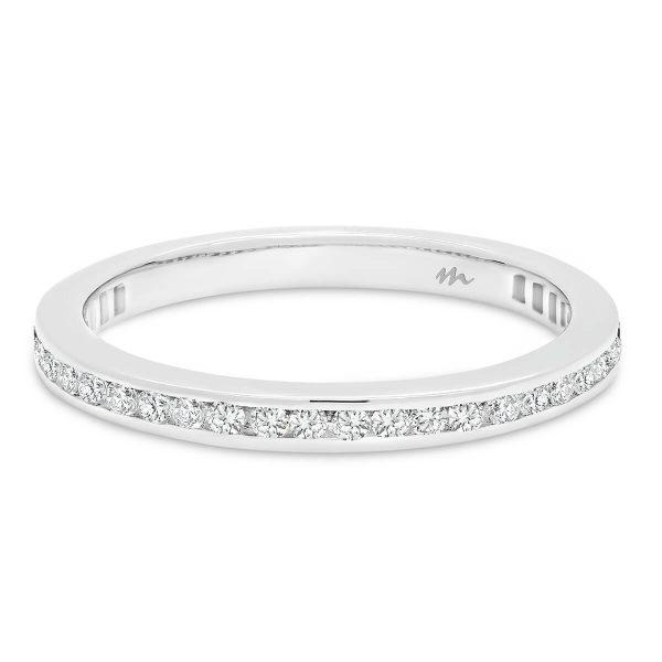 Brynn A channel set Moissanite wedding ring