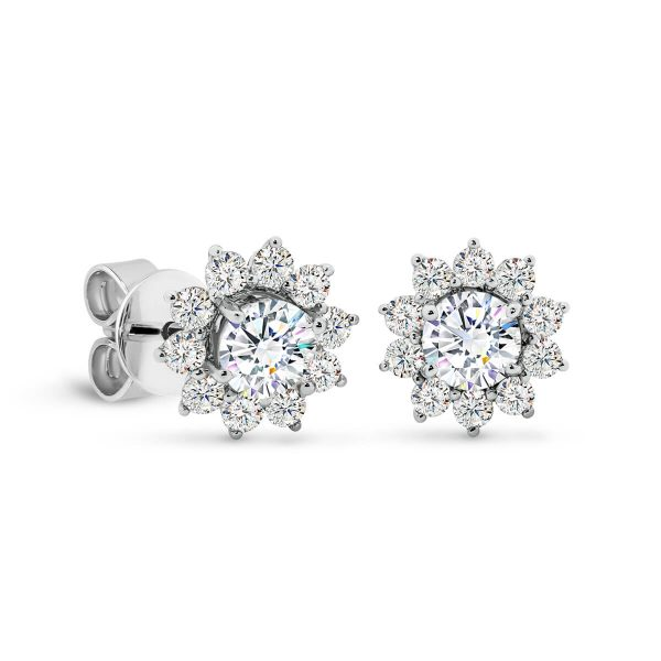 Camille 4.0 Moissanite Floral cluster earrings
