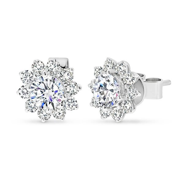 Camille 5.0 Moissanite Floral cluster earrings