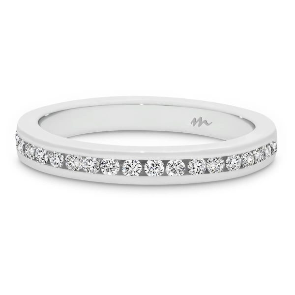 Carmen 1.5 channel set Moissanite wedding band