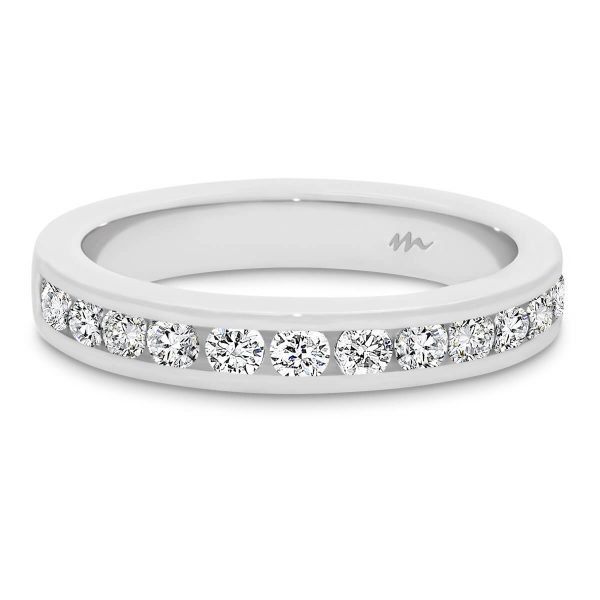 Carmen 2.0 channel set Moissanite wedding ring
