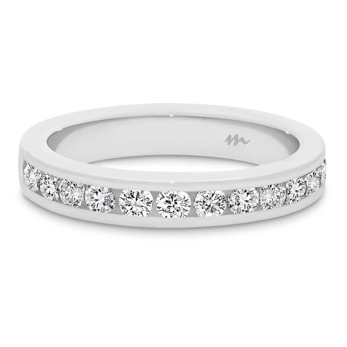 Carmen 2.0 channel set Moissanite wedding ring