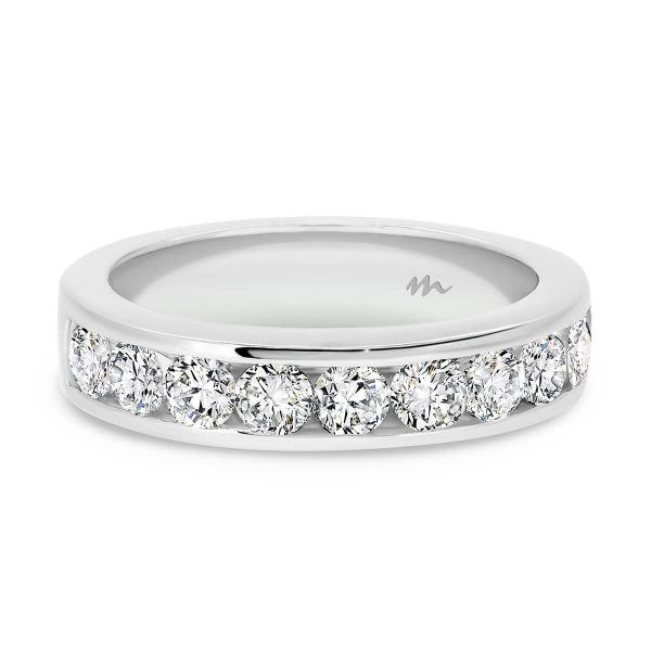 Carmen 3.0 channel set Moissanite half band wedding ring