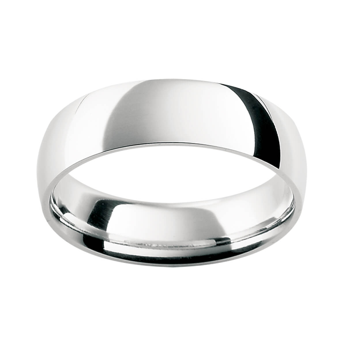 HRC Men's ring semi-rounded band with contour finish