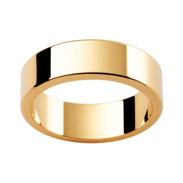 LRE men's wedding ring flat band with rounded edges