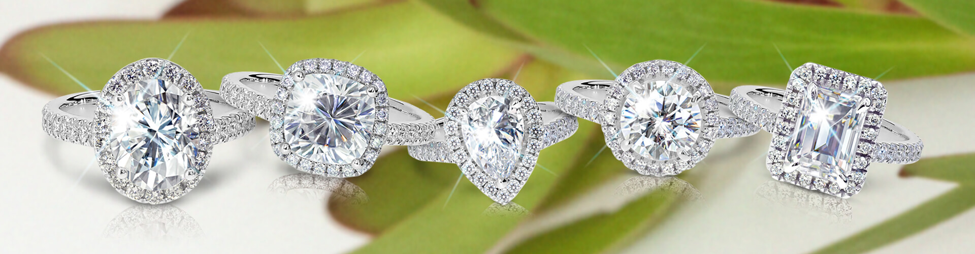 Moissanite Shapes and SIzes
