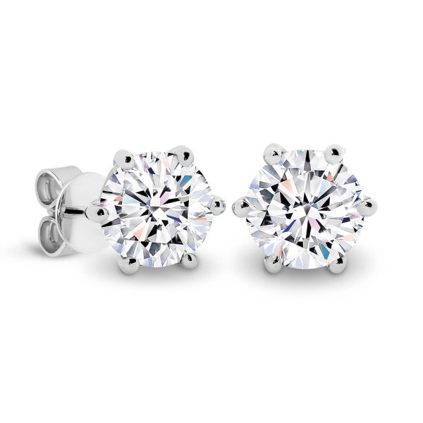 Lin 5.0 Half carat white gold earrings