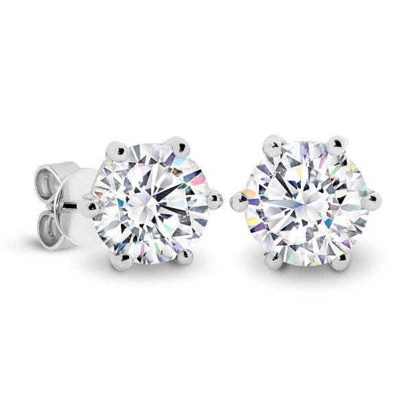 Lin 6.0 1 carat diamond earrings