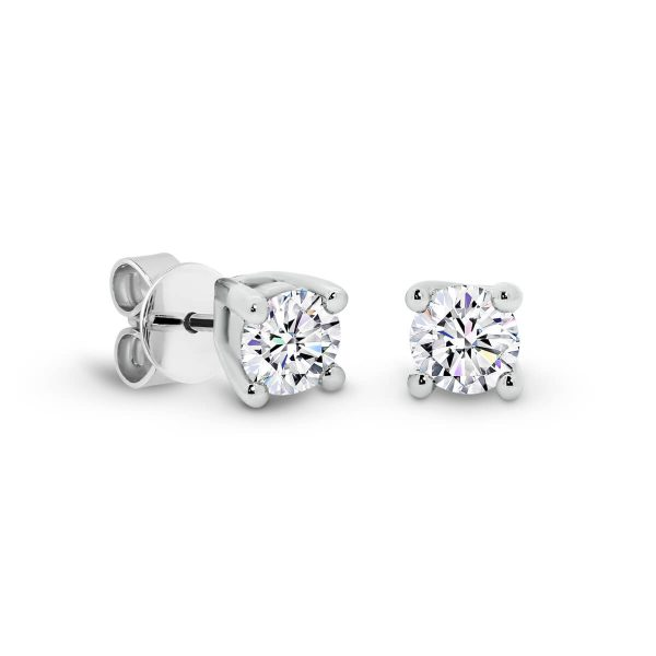 Linnie 3.0 small 4-prong Moissanite earrings