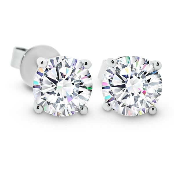 Linnie 7.5 one and half carat 4-prong stud earrings
