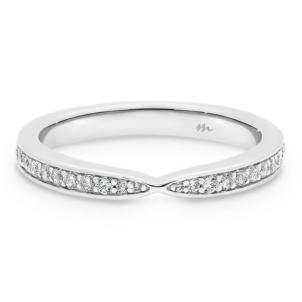 Marie pave set wedding ring